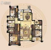保利海德公馆3室2厅2卫203平方米户型图