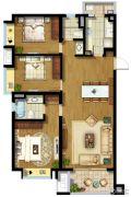 东原逸墅3室2厅2卫117平方米户型图