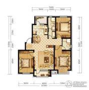 宏发石榴3室2厅1卫105平方米户型图
