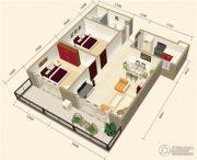 中视金海湾2室2厅1卫84平方米户型图