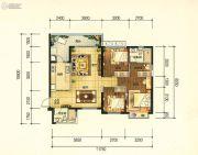 昆明・恒大名都3室2厅2卫121平方米户型图