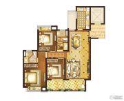 复地宴南都3室2厅2卫120平方米户型图