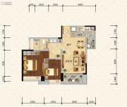 绿地新里缇香公馆2室2厅1卫80平方米户型图
