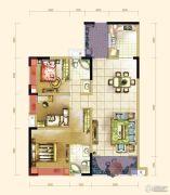 大成郡3室2厅2卫103平方米户型图
