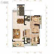芙蓉・四季花城3室2厅2卫108平方米户型图