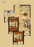 红星国际广场2室2厅1卫99平方米户型图