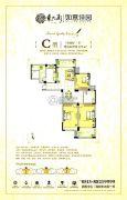 东大街如意佳园3室2厅1卫119平方米户型图