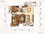 龙湾公馆3室2厅2卫133平方米户型图