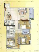 元邦明月水岸3室2厅2卫125平方米户型图