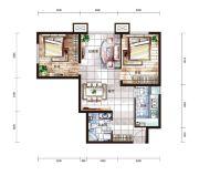 中国铁建国际城2室2厅1卫76平方米户型图
