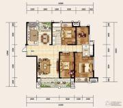 建业龙城4室2厅2卫166平方米户型图