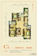 天成熙园3室2厅2卫126平方米户型图