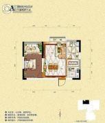 旺佳・华府1室2厅1卫40平方米户型图