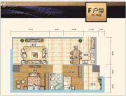 时代中心2室2厅1卫98平方米户型图