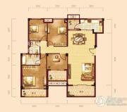 泰然南湖玫瑰湾4室2厅2卫136平方米户型图