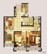 翠屏城2室2厅1卫69平方米户型图