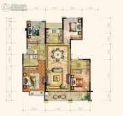 黄岩中梁香缇公馆4室2厅2卫137平方米户型图