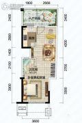 清澜半岛1室1厅1卫0平方米户型图
