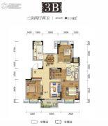 国采光立方3室2厅2卫114平方米户型图