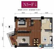 华远九都汇2室2厅1卫129平方米户型图