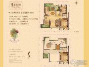 大华锦绣华城3室2厅2卫150平方米户型图
