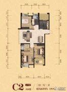 松江宁越花园3室2厅2卫119平方米户型图