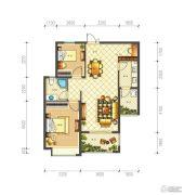 佳源巴黎都市2室2厅1卫88平方米户型图