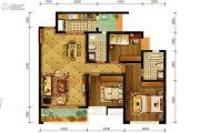 隆鑫十里画卷3室2厅2卫115平方米户型图