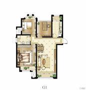 印象欧洲3室2厅1卫89平方米户型图