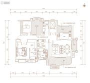 金凤・天山熙湖3室2厅3卫155平方米户型图