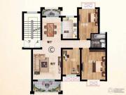 中熙凤凰城3室2厅1卫110--114平方米户型图
