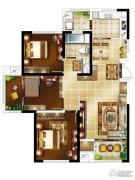 银洲皇家学苑3室2厅1卫120平方米户型图
