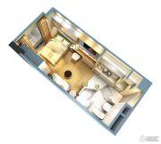 证大大拇指广场1室1厅1卫35平方米户型图