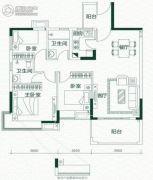 碧水天源怡景湾3室2厅2卫0平方米户型图