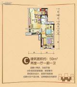 碧桂园花溪1号1室1厅1卫0平方米户型图