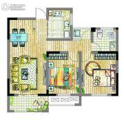 翰林御花园2室2厅1卫0平方米户型图