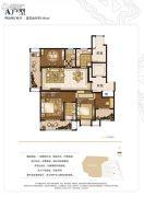 世茂石湖湾4室2厅2卫161平方米户型图