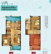 华润橡树湾四期3室2厅2卫109平方米户型图