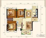城中半岛2室2厅1卫105平方米户型图