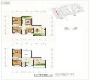 世纪公元3室2厅2卫196平方米户型图