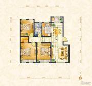 绿地・中央广场3室2厅1卫107平方米户型图
