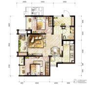 万科城2室2厅1卫60平方米户型图