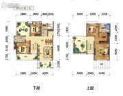 国鑫凤垭山4室2厅2卫132平方米户型图