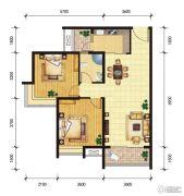 东山雅居2室2厅1卫91--92平方米户型图