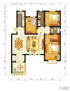 水静界3室2厅2卫139平方米户型图