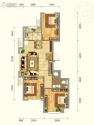 韩建青春�I3室2厅1卫90平方米户型图