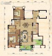 珠江城3室2厅2卫82平方米户型图