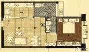 粤海大厦1室2厅1卫0平方米户型图