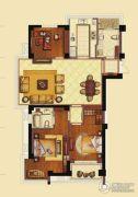 海洲新天地广场3室2厅2卫145平方米户型图