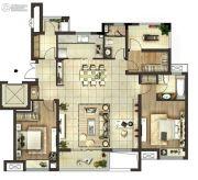 绿地江南华府3室2厅2卫133平方米户型图